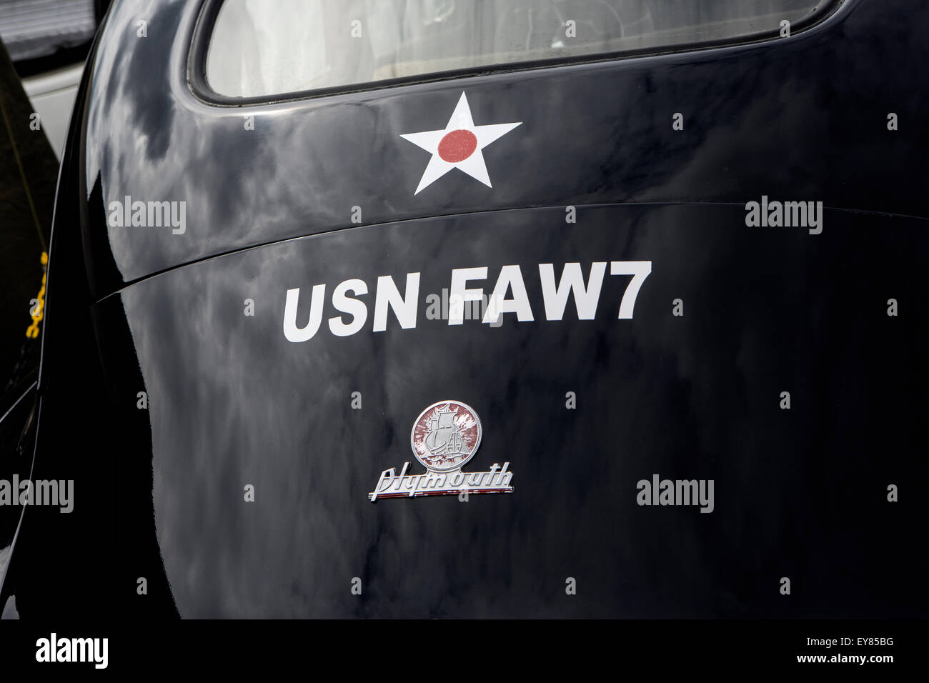 US Navy Plymouth car - Stock Image