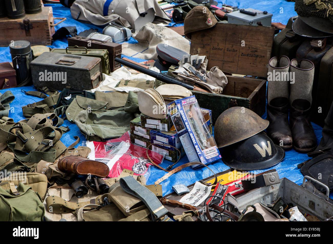 Militaria at the war and peace revival - Stock Image