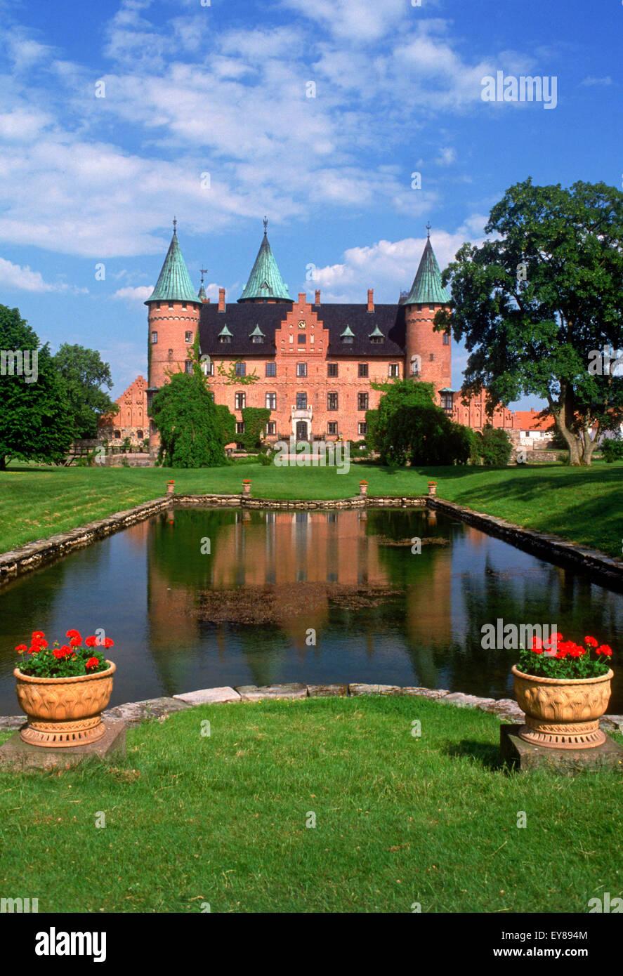 Private estate Renaissance castle of Trolleholm (Trolleholms slott) in province of Skane in southern Sweden - Stock Image