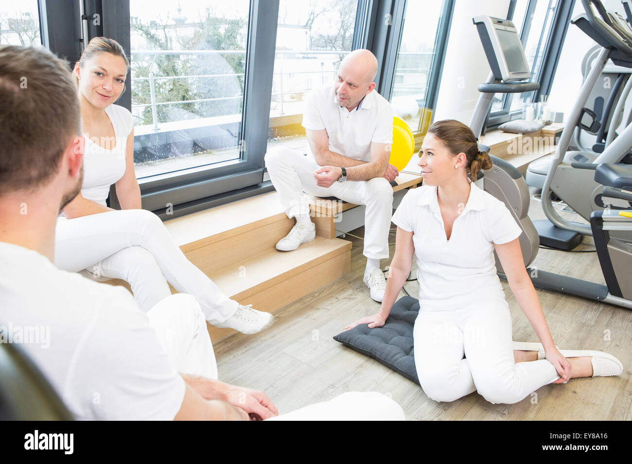 Physiotherapists having a meeting - Stock Image