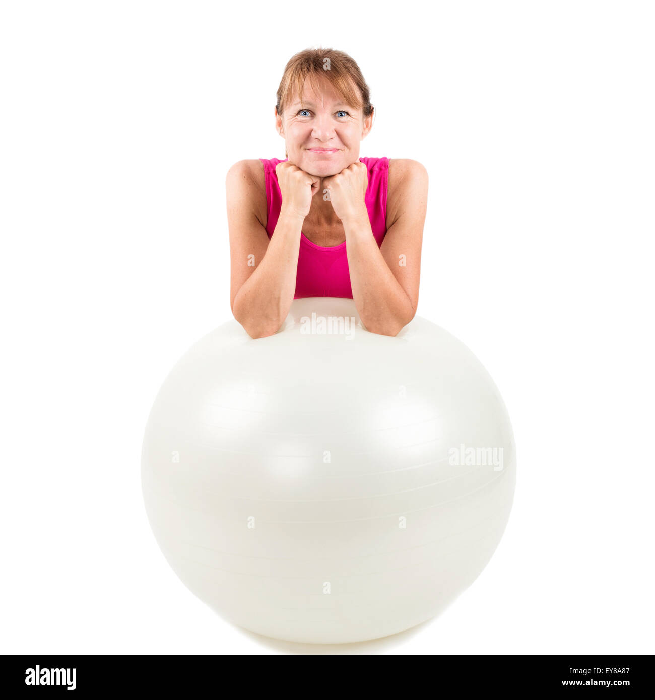 Sporty woman pausing - Stock Image