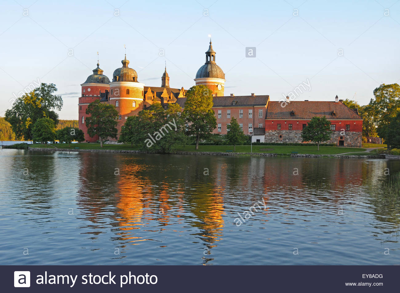 Gripsholm Castle near Lake Mälaren at the town of Mariefred in Södermanland Province in south central - Stock Image