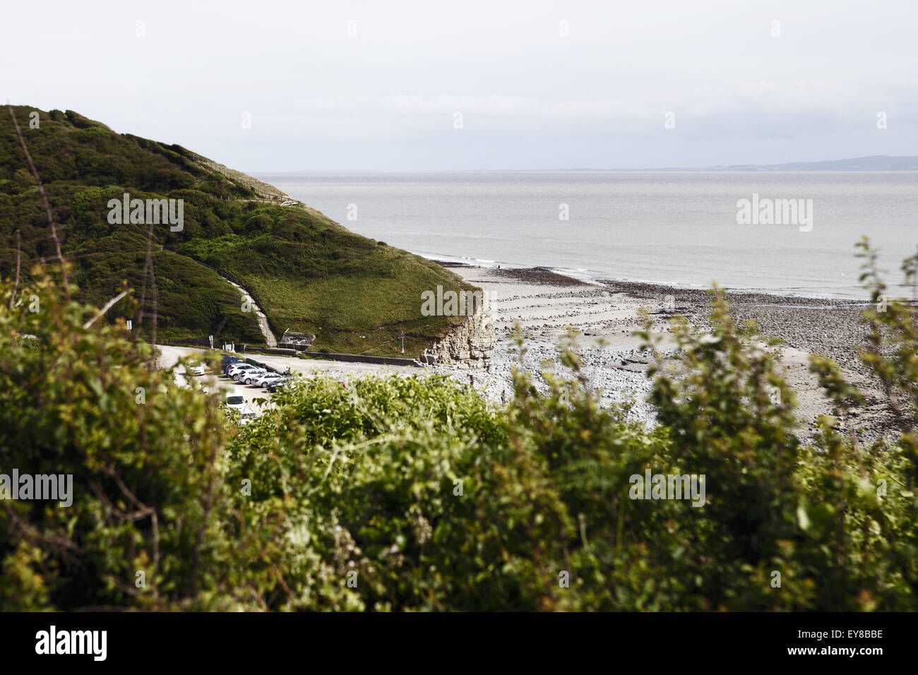 Llantwit Major Beach, at the heart of the Vale of Glamorgan, one of many on the Wales Coast Path - Llwybr Arfordir - Stock Image