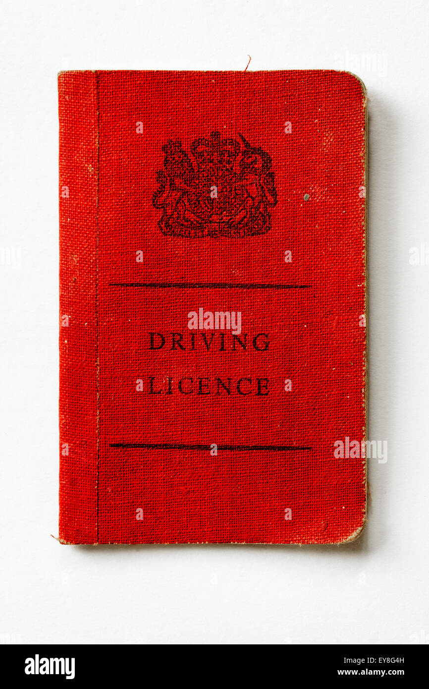 Vintage 1960's 1970's British Driving Licence - Stock Image
