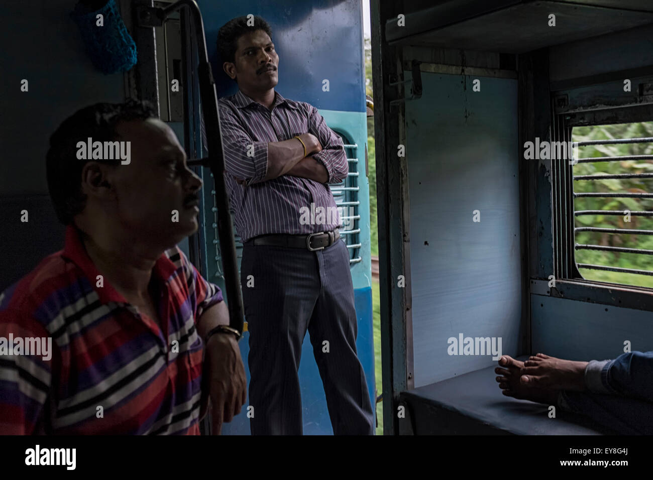 On the Netravati express, Mumbai - Trivandrum - Stock Image