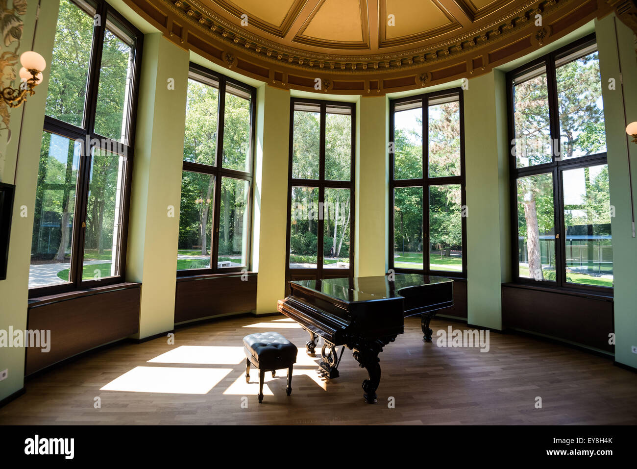 Bayreuth, Germany. 24th July, 2015. A grand piano in Haus Wahnfried ...