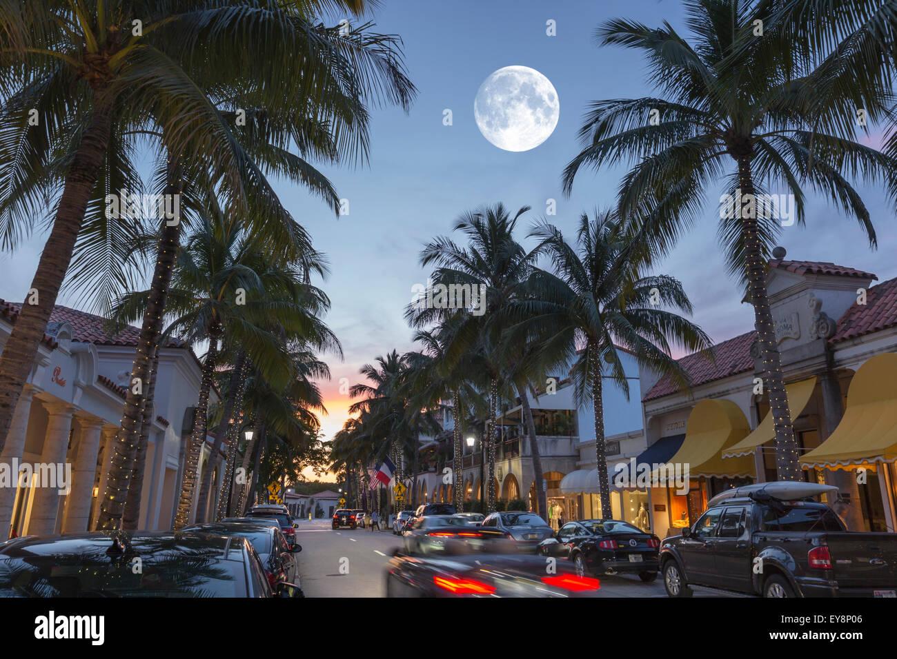 WORTH AVENUE PALM BEACH FLORIDA USA Stock Photo