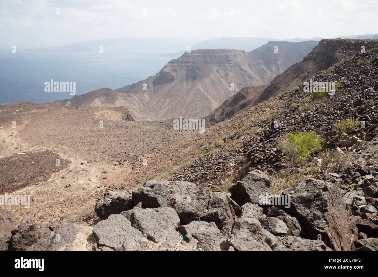 View into the Bay of Ghoubbet (Bay of Demons), Gulf of Tadjoura; Djibouti - Stock Image
