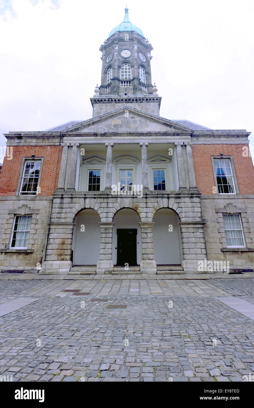 The Bedford Tower in the Dublin Castle upper yard in Ireland. Stock Photo
