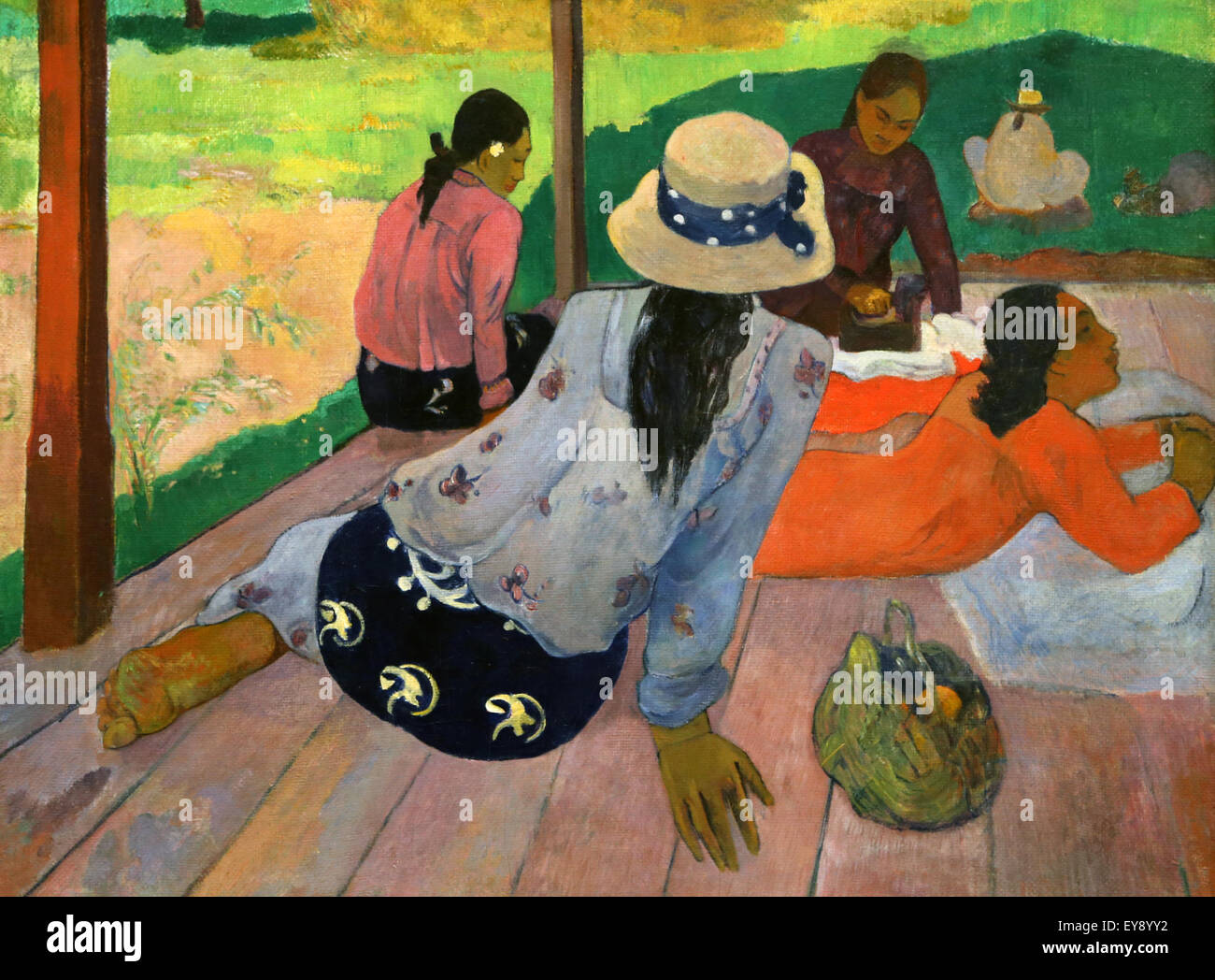 Paul Gauguin (1848-1903). French painter. The Siesta. 1892-94. Oil on canvas. Metropolitan Museum of Art. NY. USA. - Stock Image