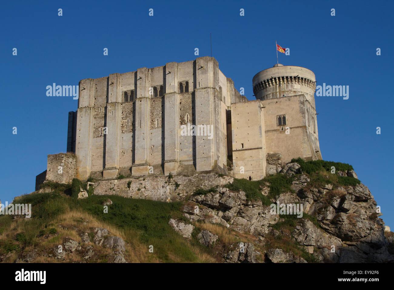 Falaise Castle. France Stock Photo