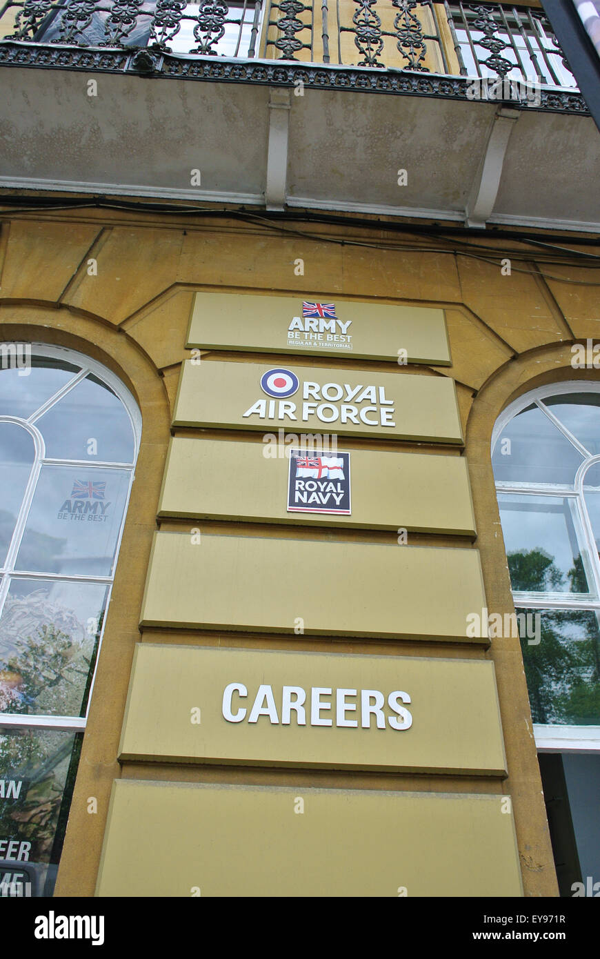 Army Air Force careers office Oxford England UK - Stock Image