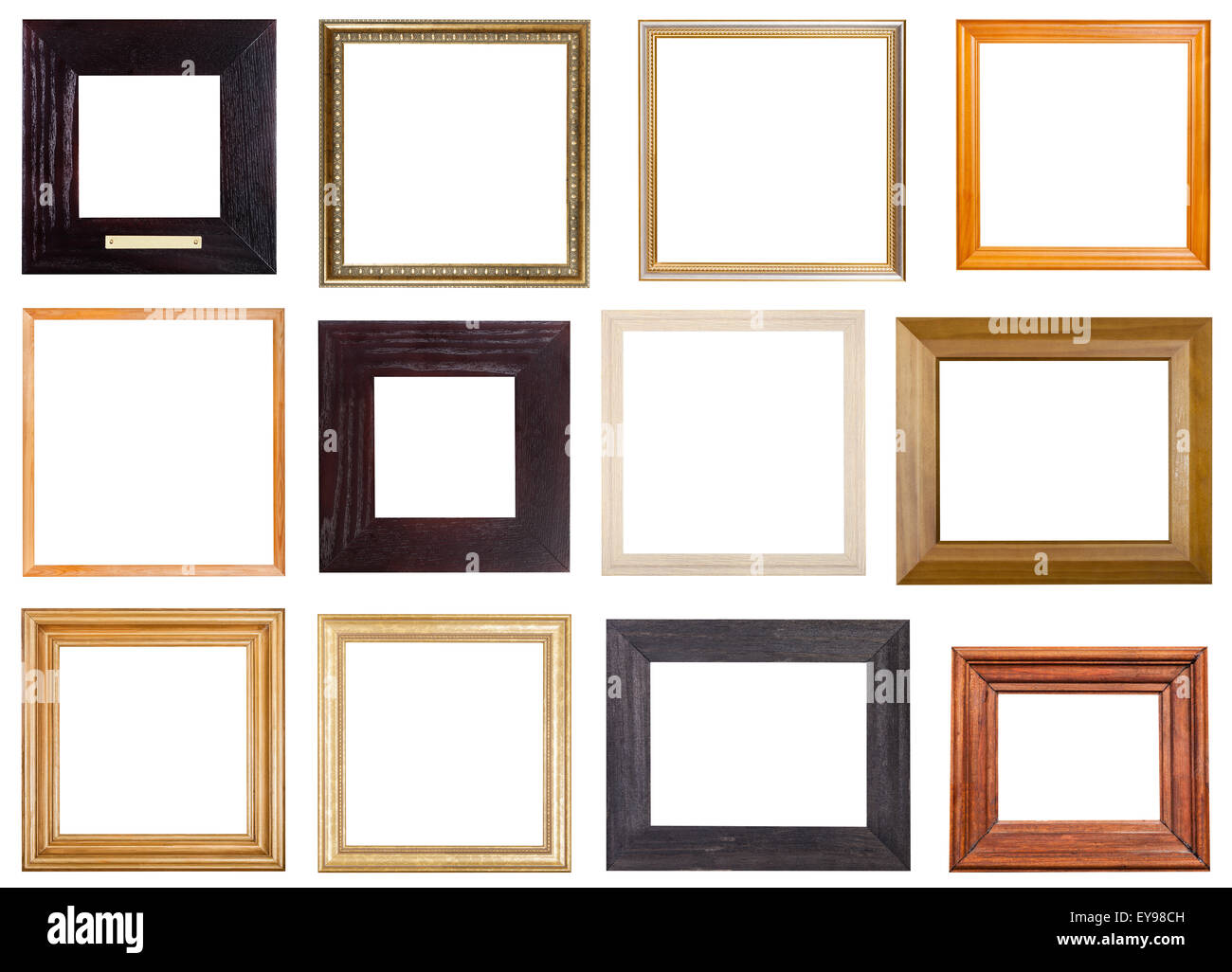 set of 12 pcs square wooden picture frames with cut out blank space ...