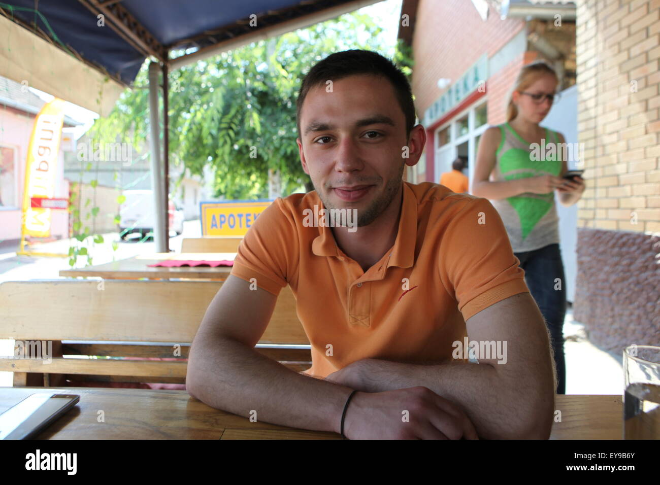 Neven, young Serb from Bezdan /  Neven, jeune Serbe de Bezdan - Stock Image