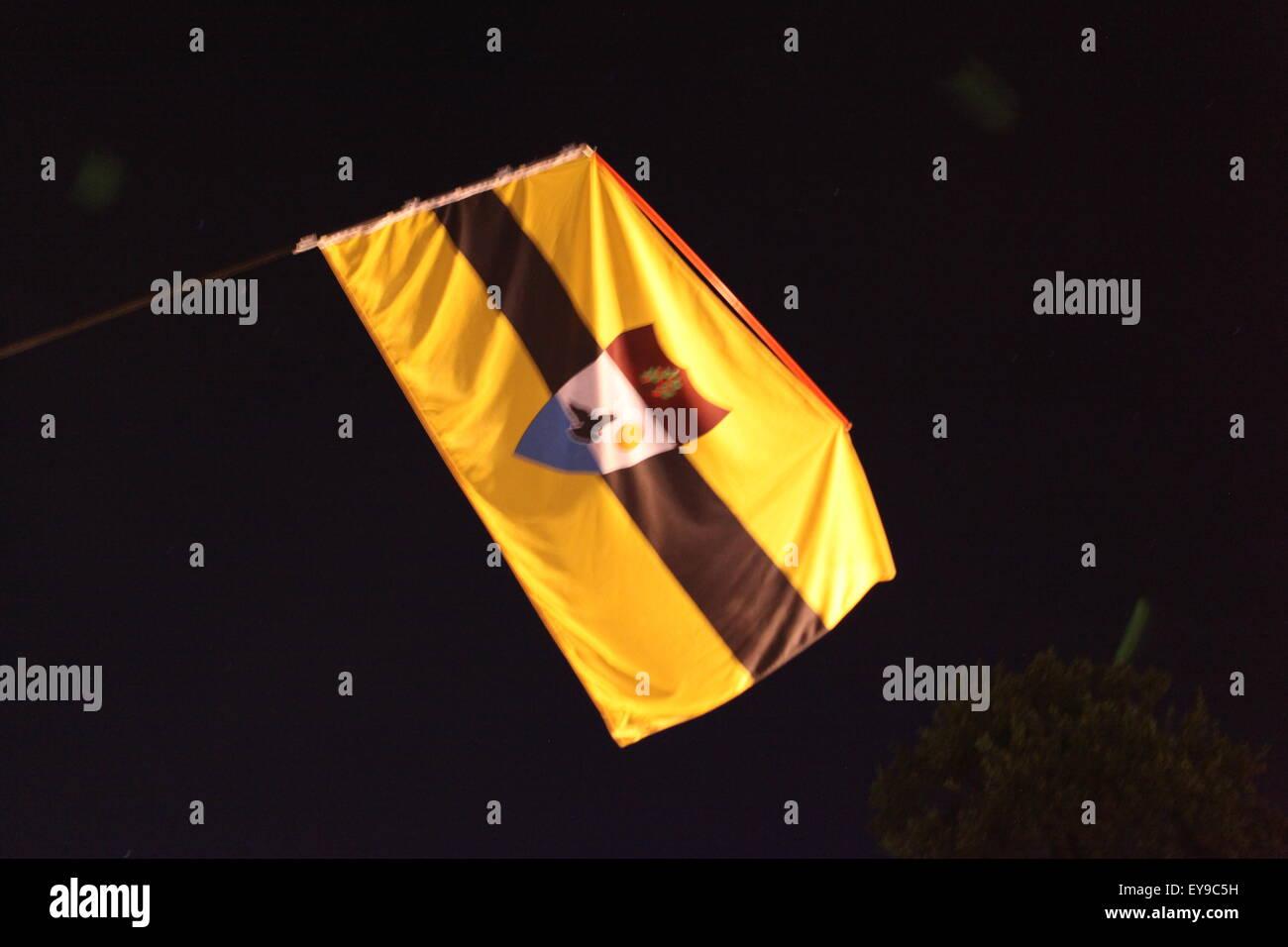 Liberland flag - Stock Image