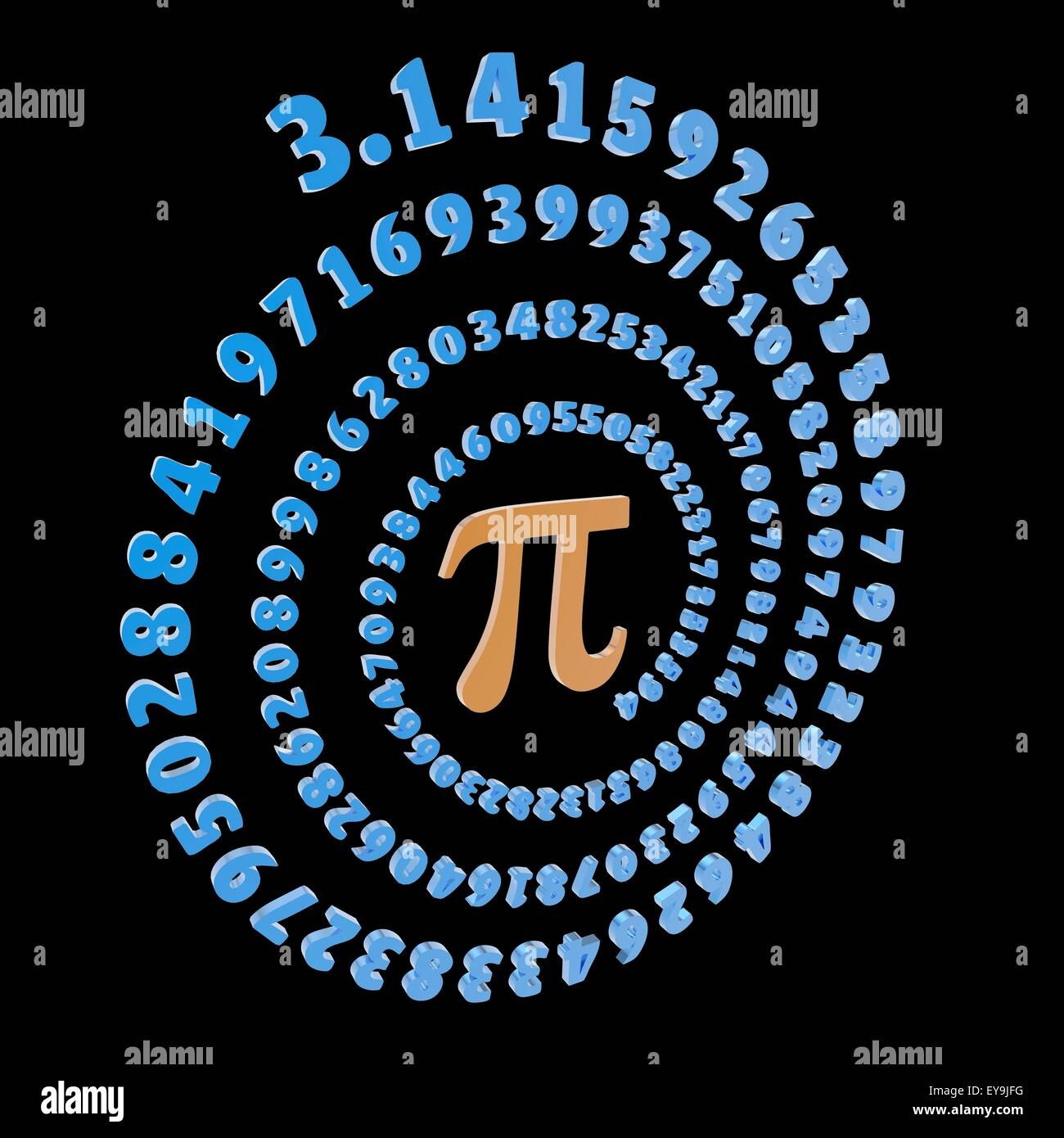 Pi Greek Letter Orange Is The Symbol Used In Mathematics To Stock