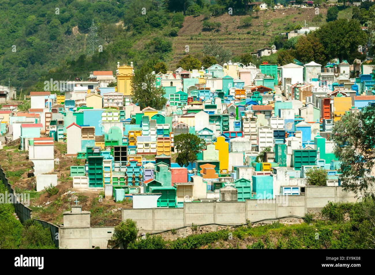 Cemetery at Solola, Guatemala - Stock Image