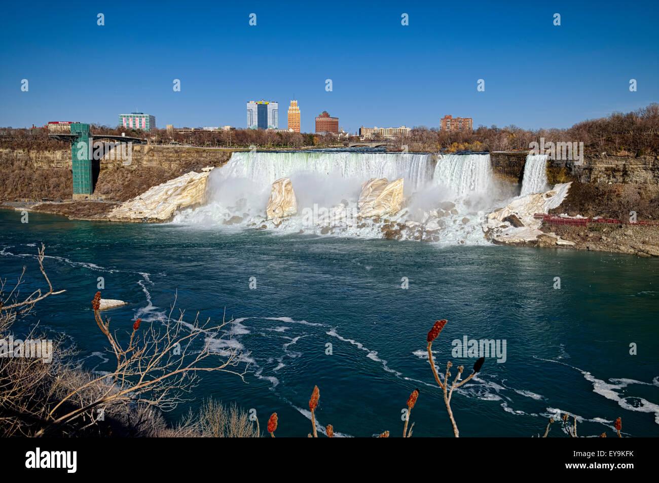 Niagara falls in ordinary day, Niagara city, Ontario, CA. - Stock Image