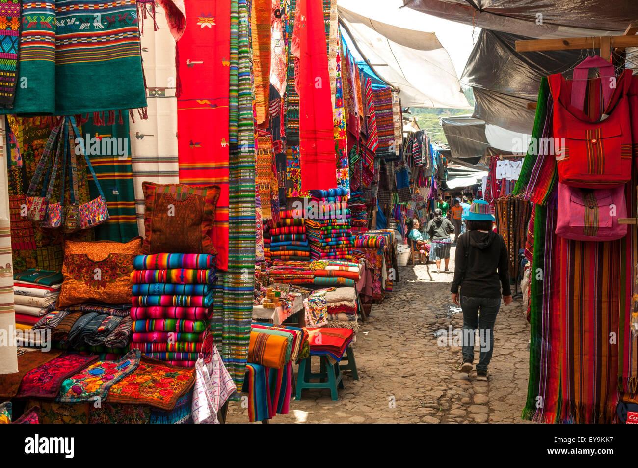 Sunday Market, Chichicastenango, Guatemala - Stock Image