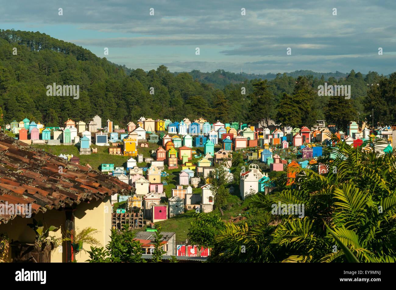 The Cemetery, Chichicastenango, Guatemala - Stock Image