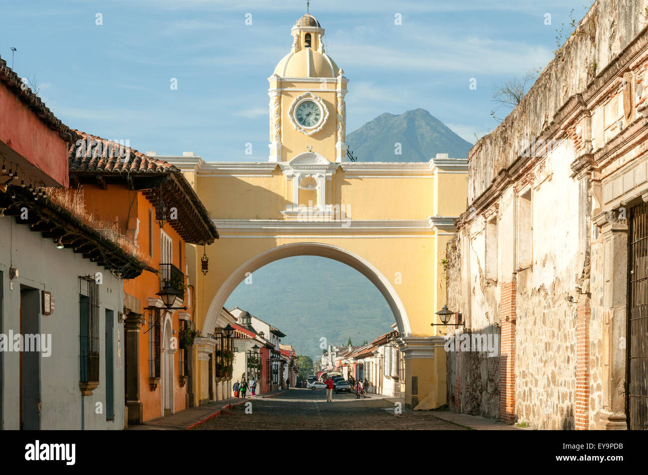 Santa Catalina Arch, Antigua, Guatemala - Stock Image