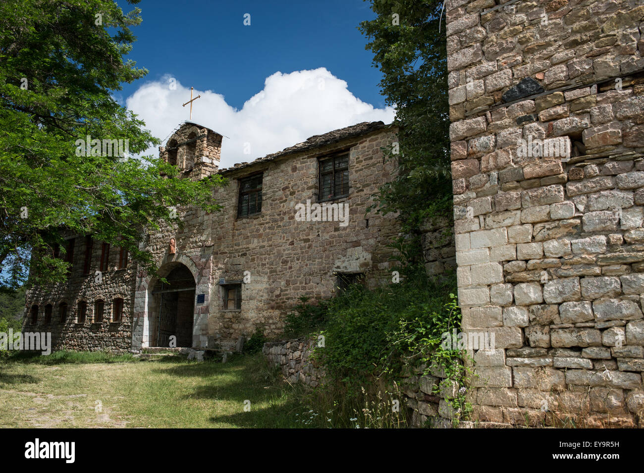 The Monastery of Saint John the Baptist (Shën Prodhome) in Voskopoja, Korke, Albania - Stock Image