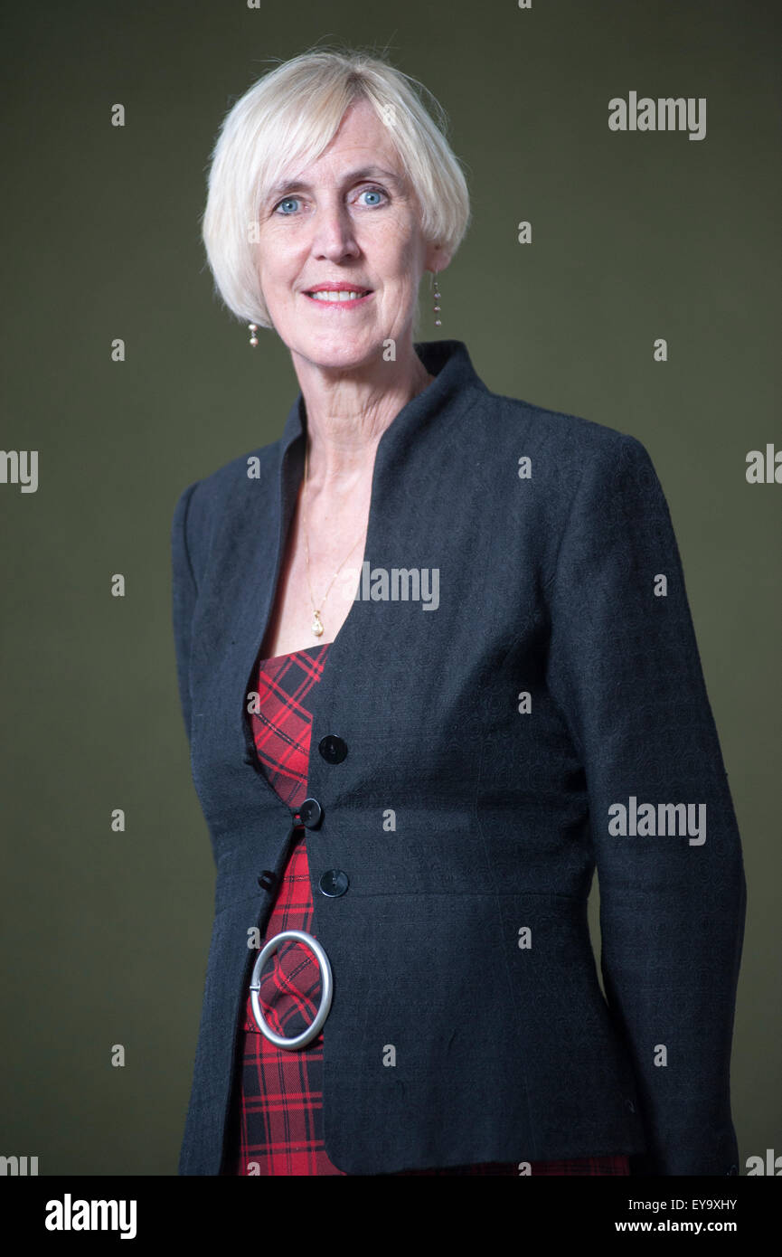 Tartan Noir crime novelist, Lin Anderson, appearing at the Edinburgh International Book Festival. - Stock Image