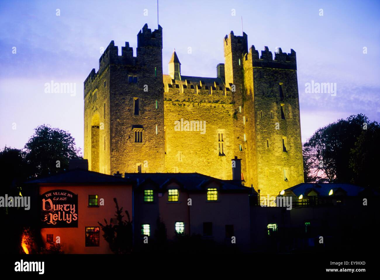 Bunratty Castle, Co Clare, Ireland; 15Th Century Tower House - Stock Image