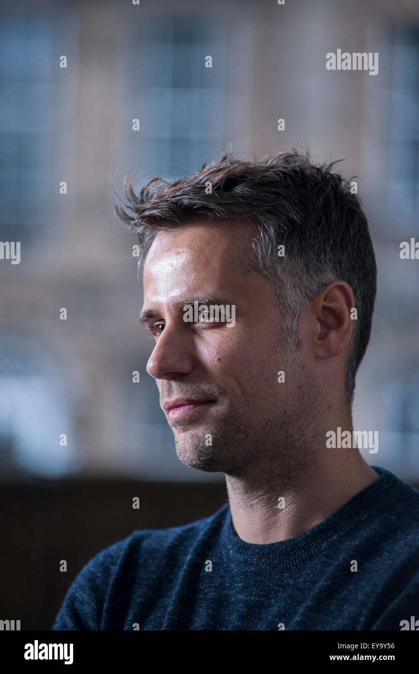 Broadcaster Richard Bacon appearing at the Edinburgh International Book Festival. - Stock Image