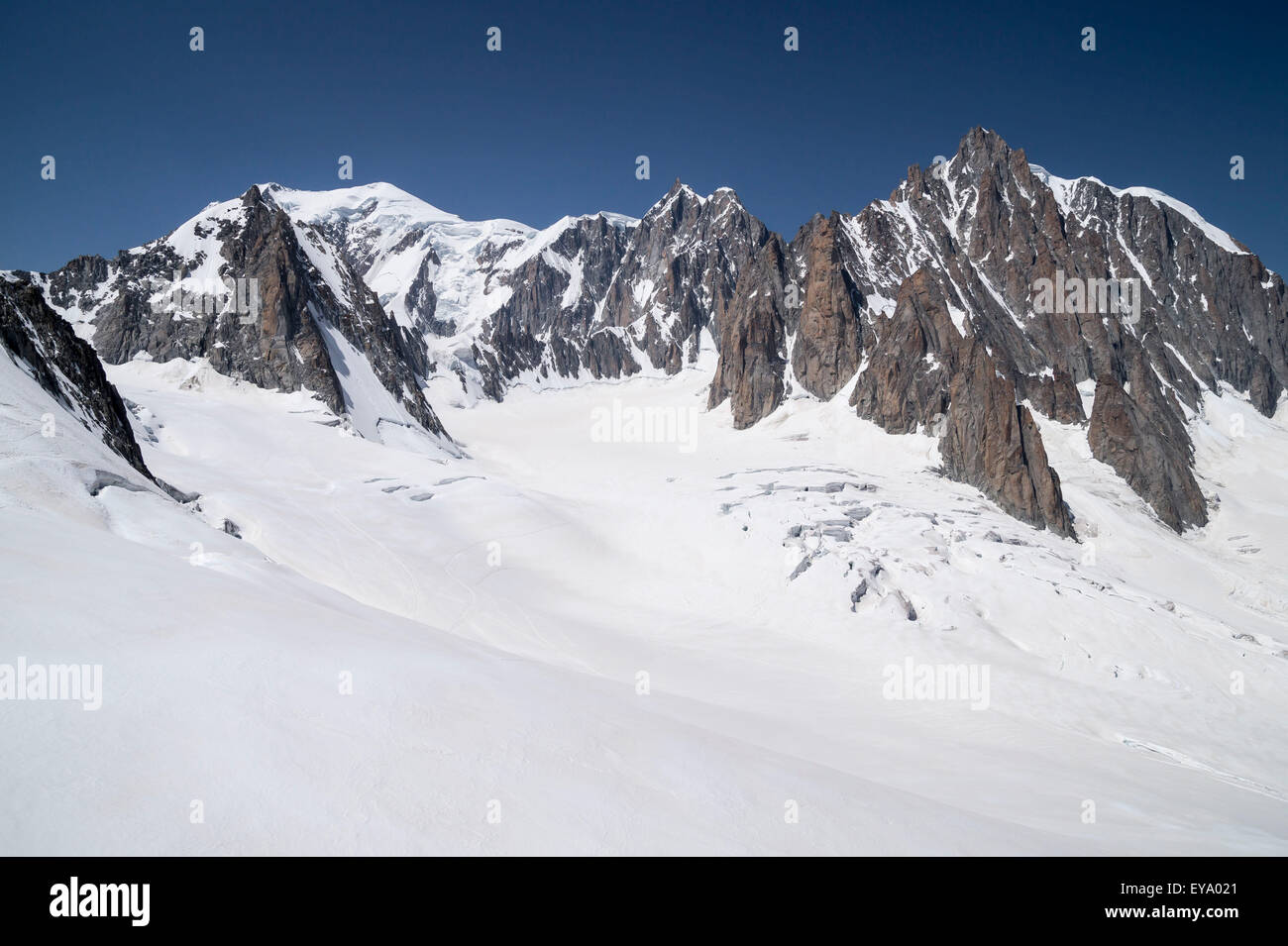 Mont Blanc Massif , natural heritage , French Alps - Stock Image