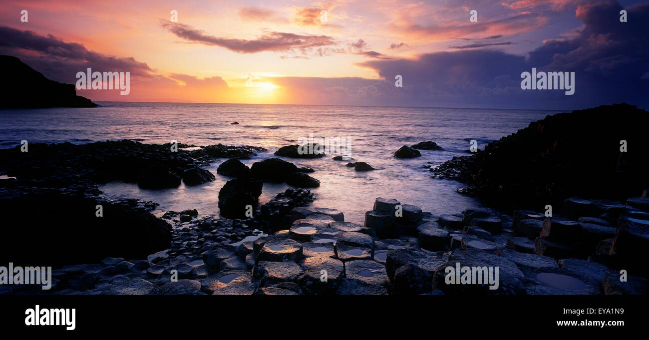 Rocks On The Beach, Giant's Causeway, County Antrim, Northern Ireland - Stock Image