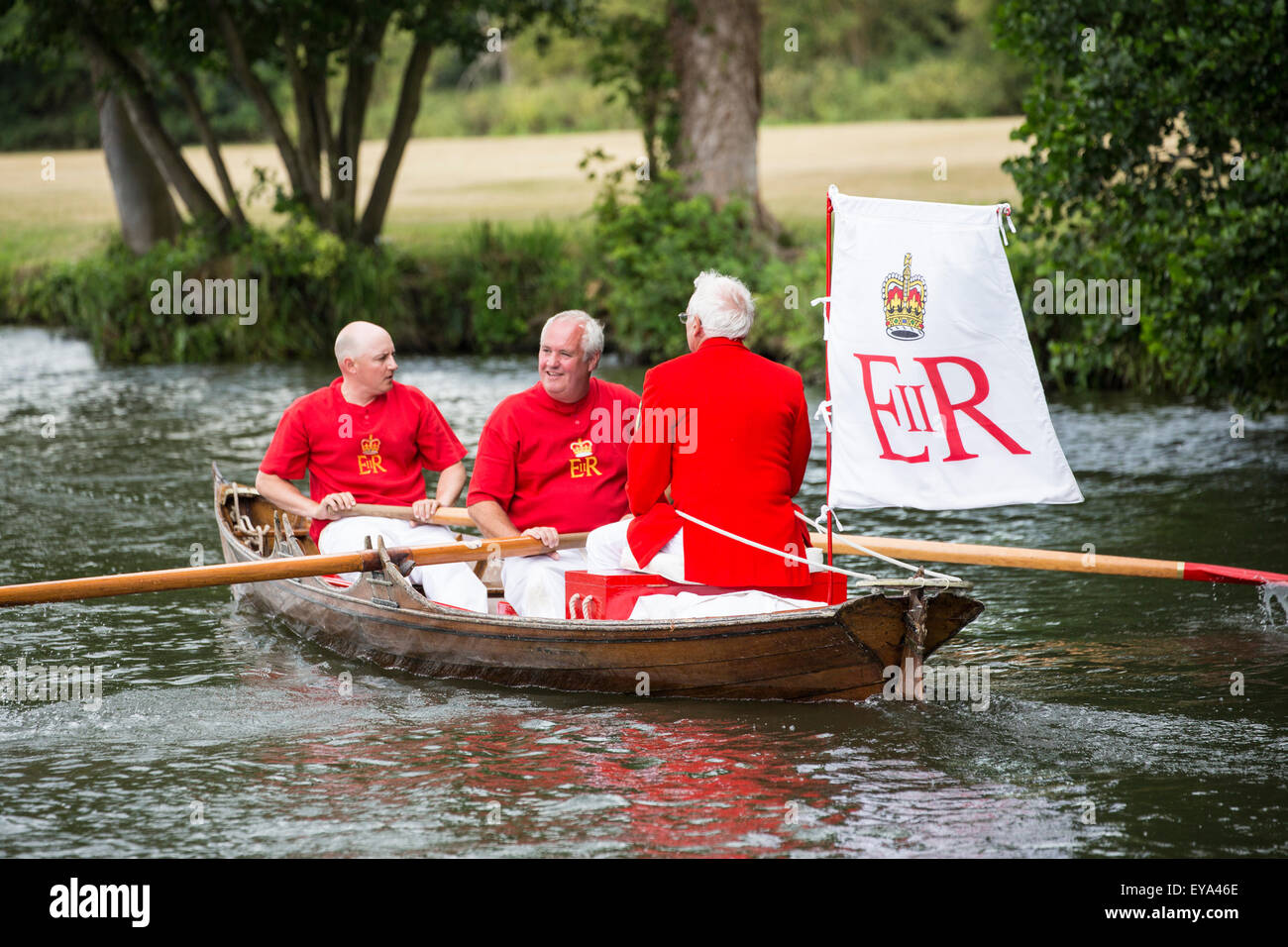 Annual Swan Upping at Henley-on-Thames 2015 - Stock Image