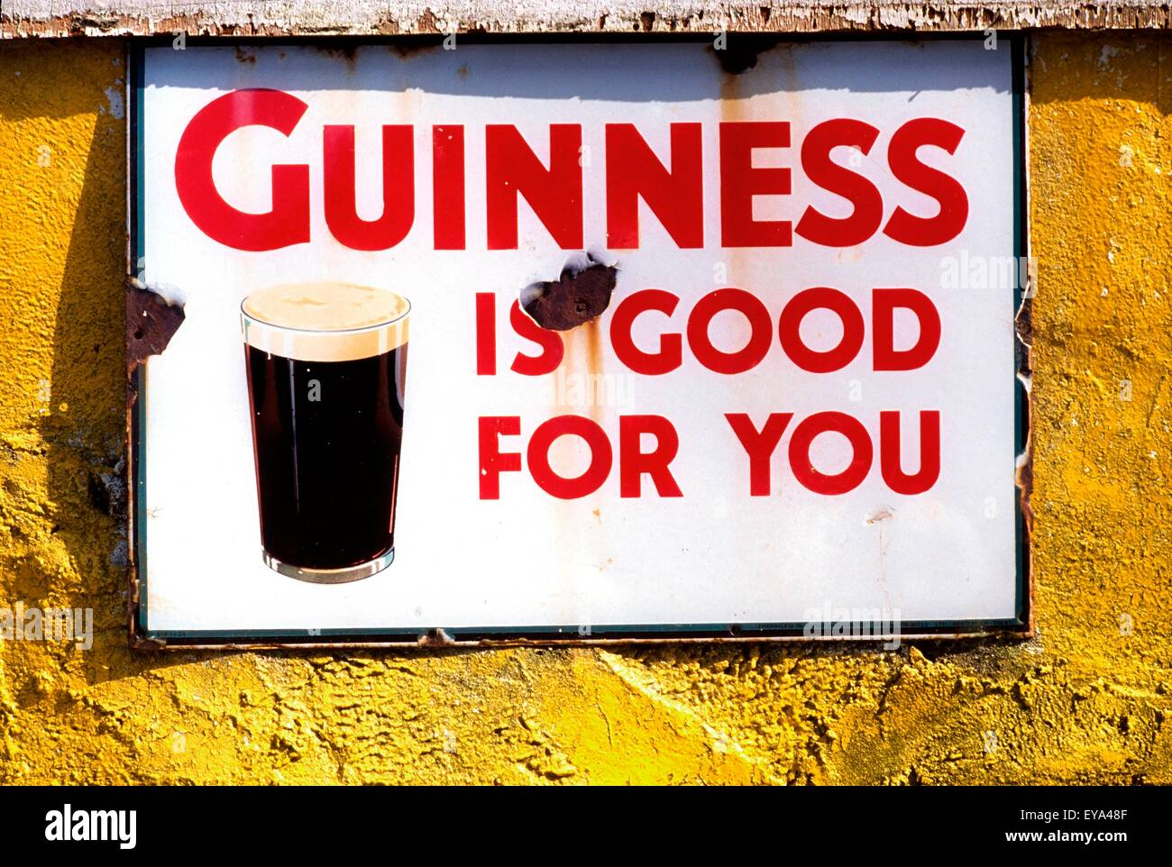 Dingle, Co Kerry, Ireland; Sign For Guinness Beer - Stock Image