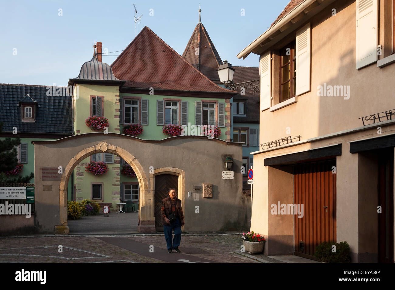Tuerkheim, France, entrance to a nursing home - Stock Image
