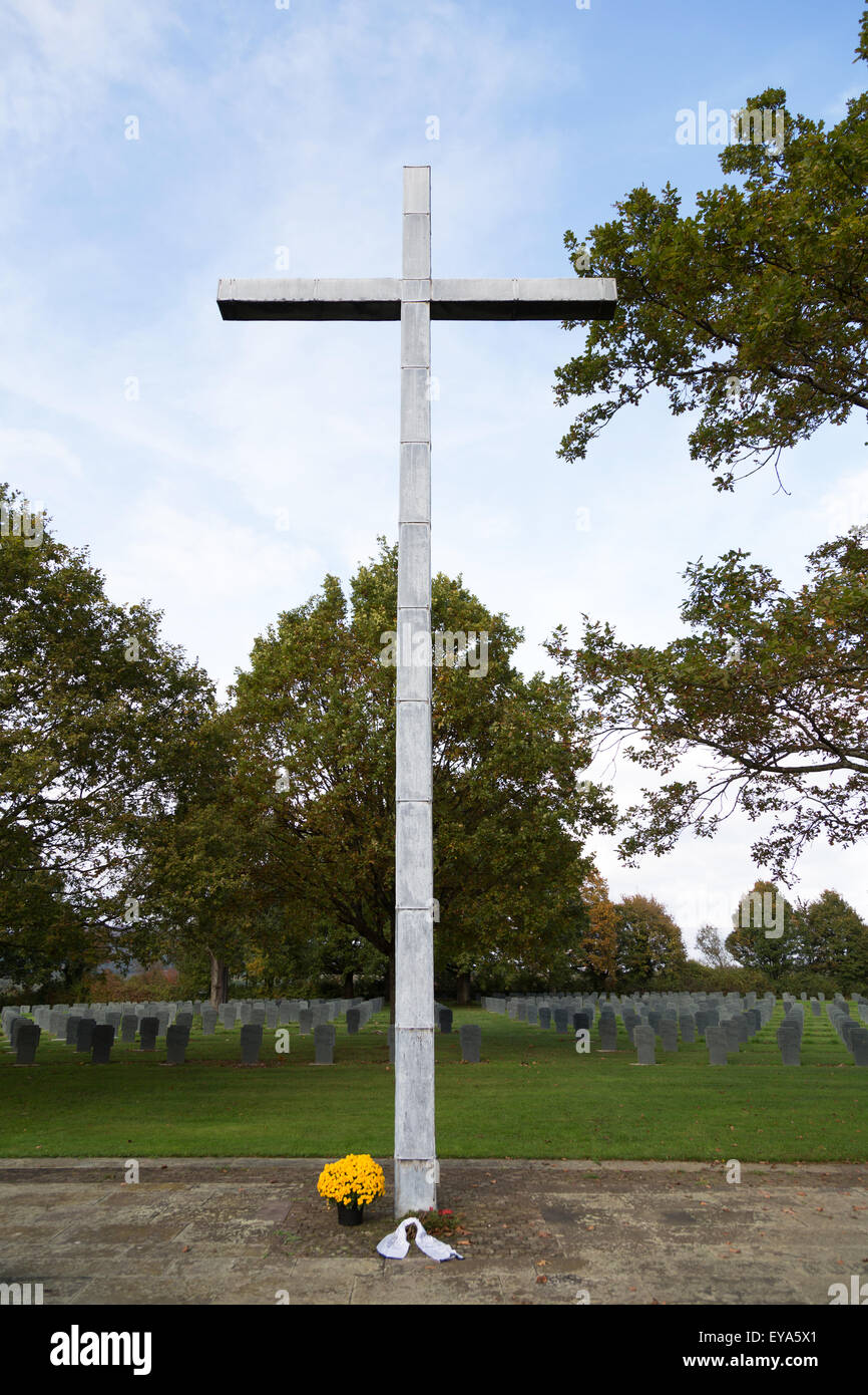 Bad Niederbronn, France, German Kriegsgraeberstaette with 15413 casualties of the Armed Forces from the II Word - Stock Image