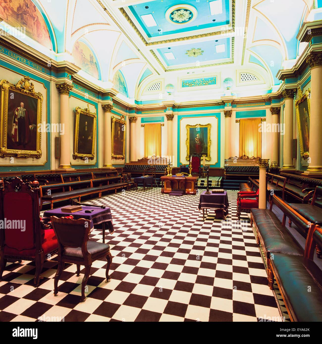 Grand Lodge Room, Freemasons Hall, Dublin, Ireland