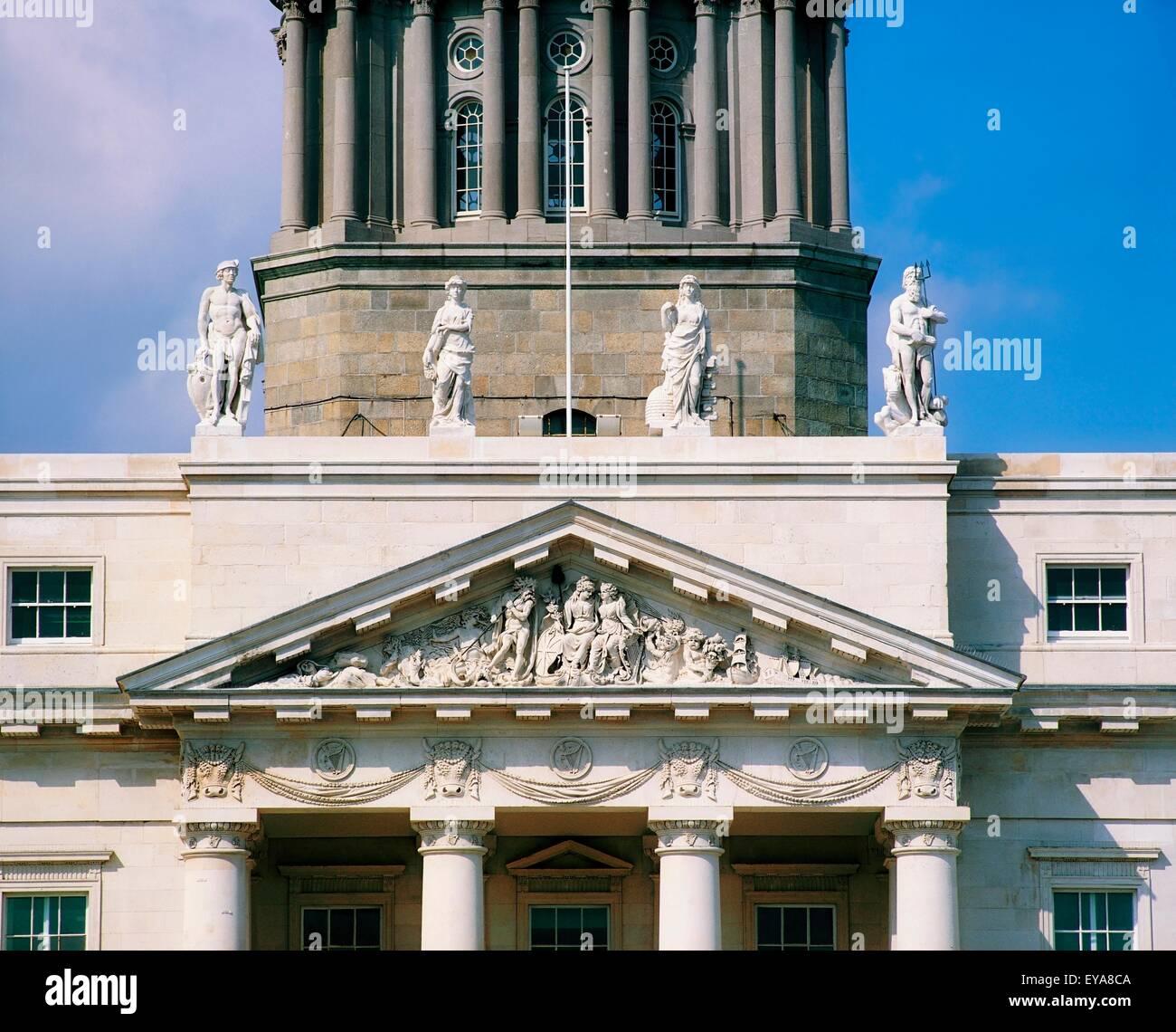 River Gods Of Ireland, Custom House, Dublin, Co Dublin, Ireland Stock Photo