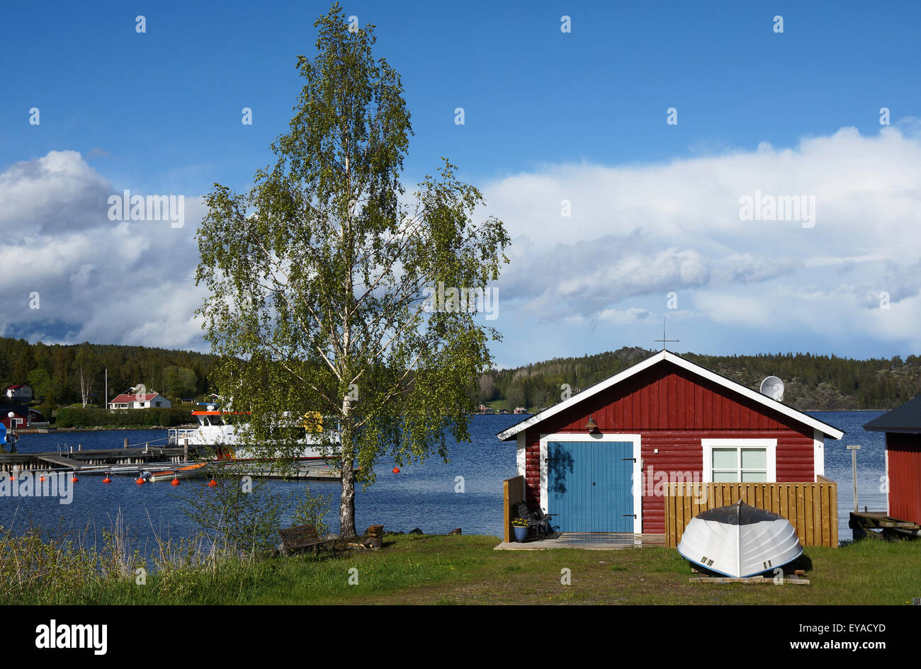 Bönhamn,fishermen's settlement  at Höga Kusten, Vasternorrland, Sweden - Stock Image