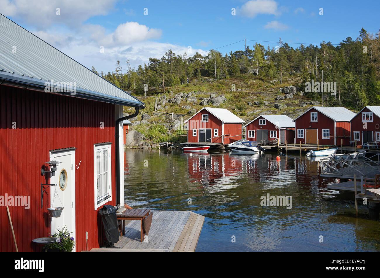 Barsta, fishermen's settlement at Höga Kusten, Sweden - Stock Image