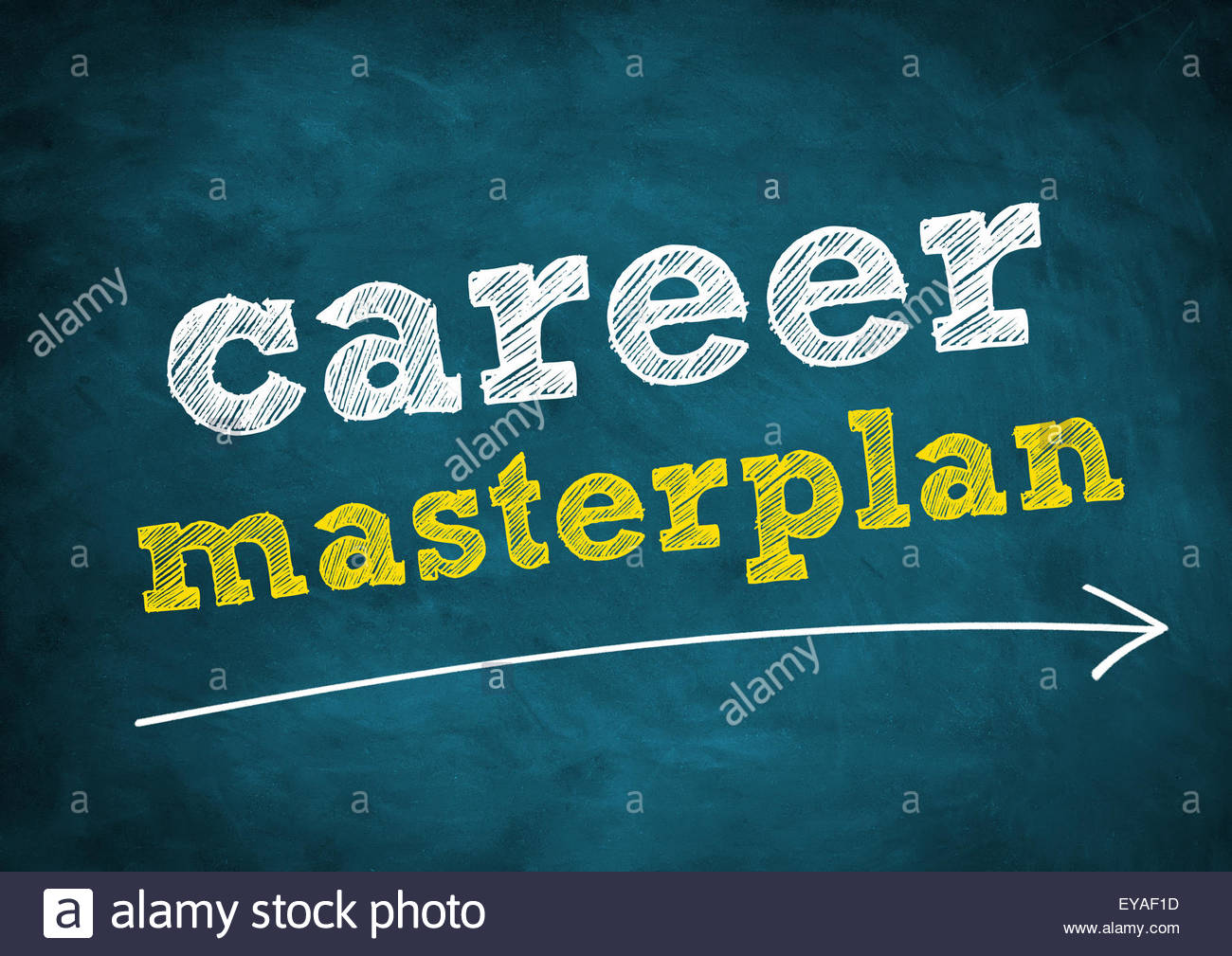 career masterplan - Stock Image