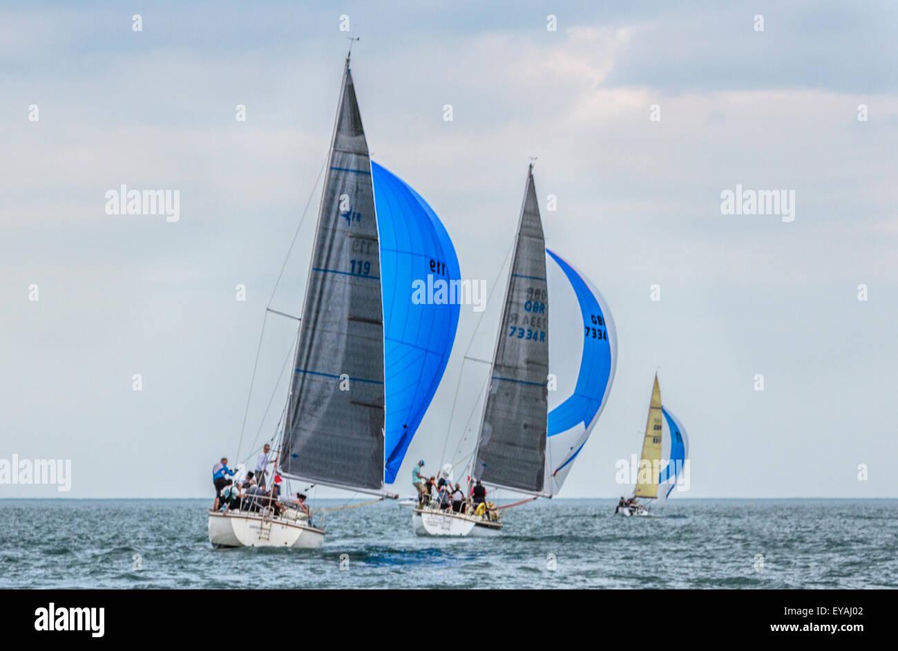 Cardigan Bay sailing yacht regatta - Stock Image