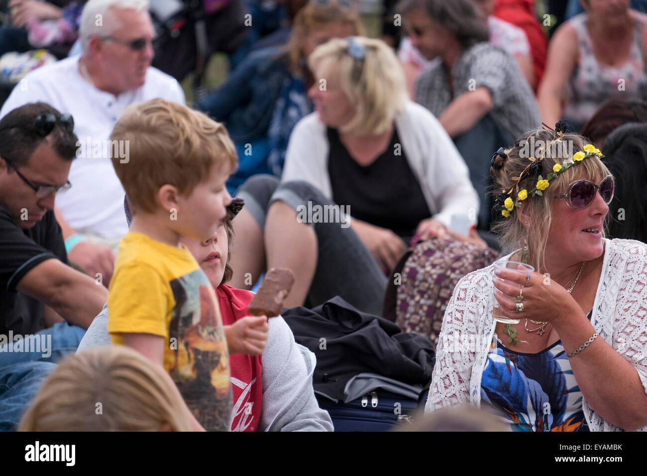 Bognor Regis, West Sussex, UK. 25th July, 2015. The Rox music and arts festival on the sea front at Bognor Regis - Stock Image