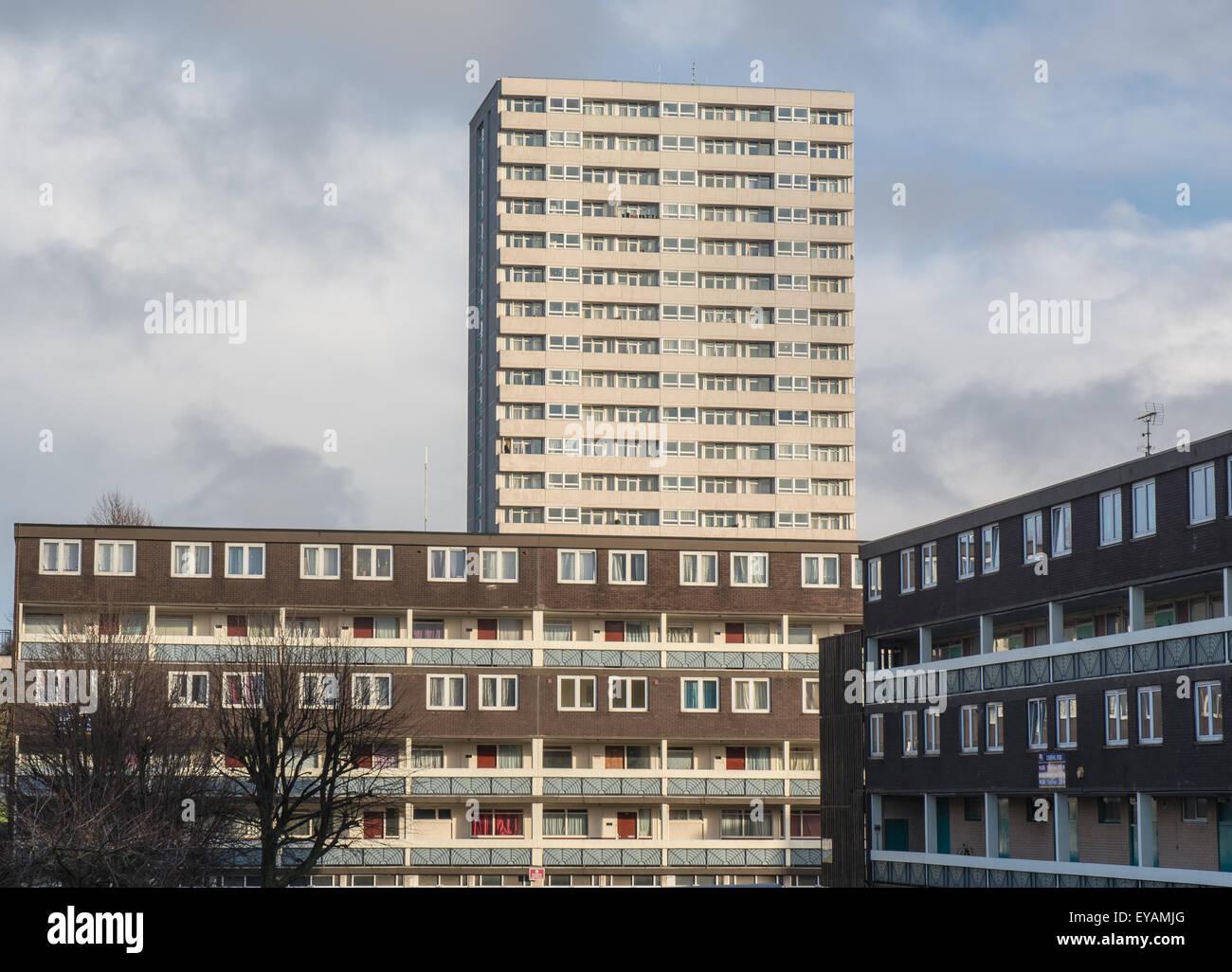 1960s housing estate - Stock Image