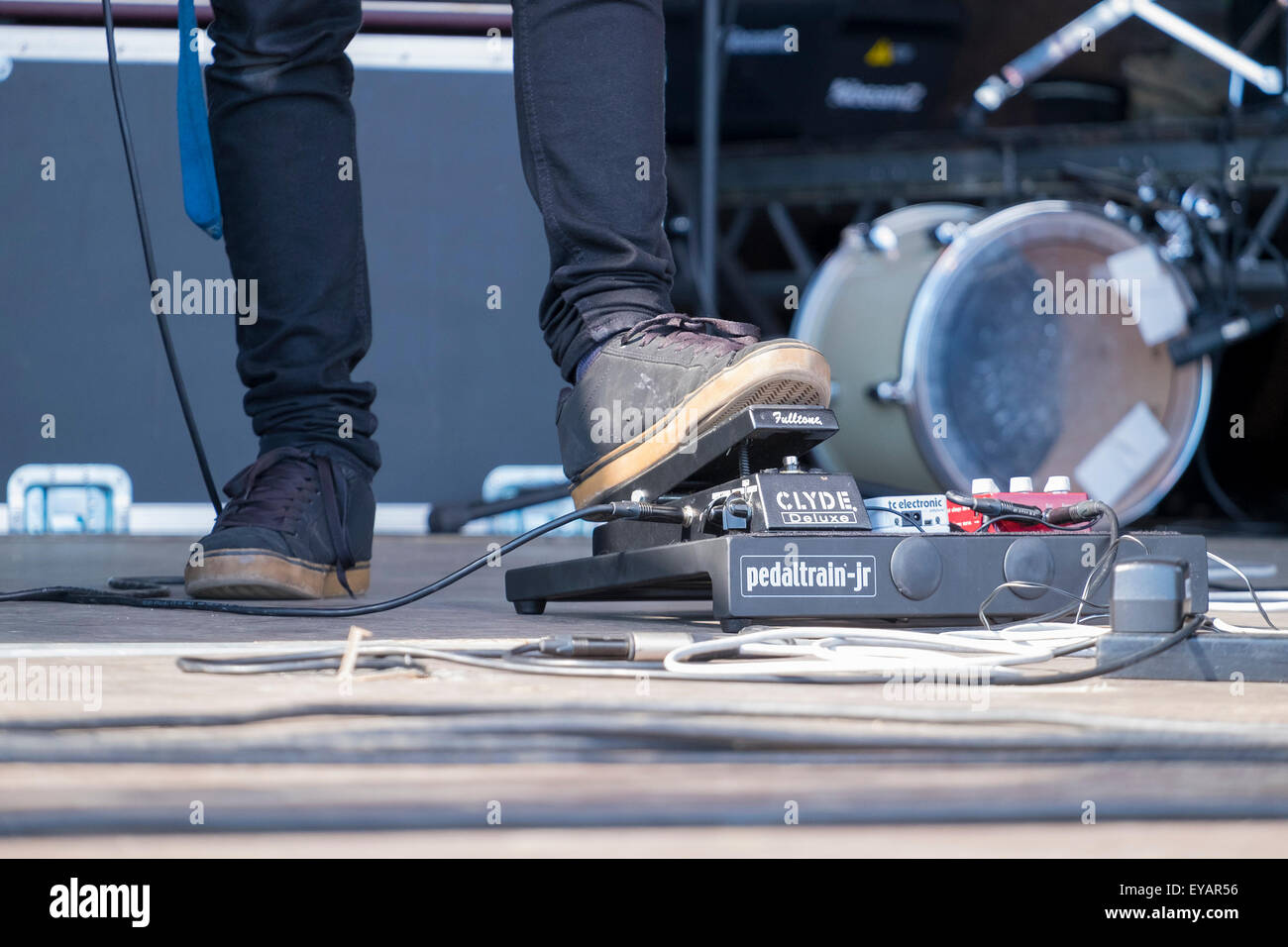 Bognor Regis, West Sussex, UK. 25th July, 2015. The Rox music and arts festival on the seafront at Bognor Regis - Stock Image