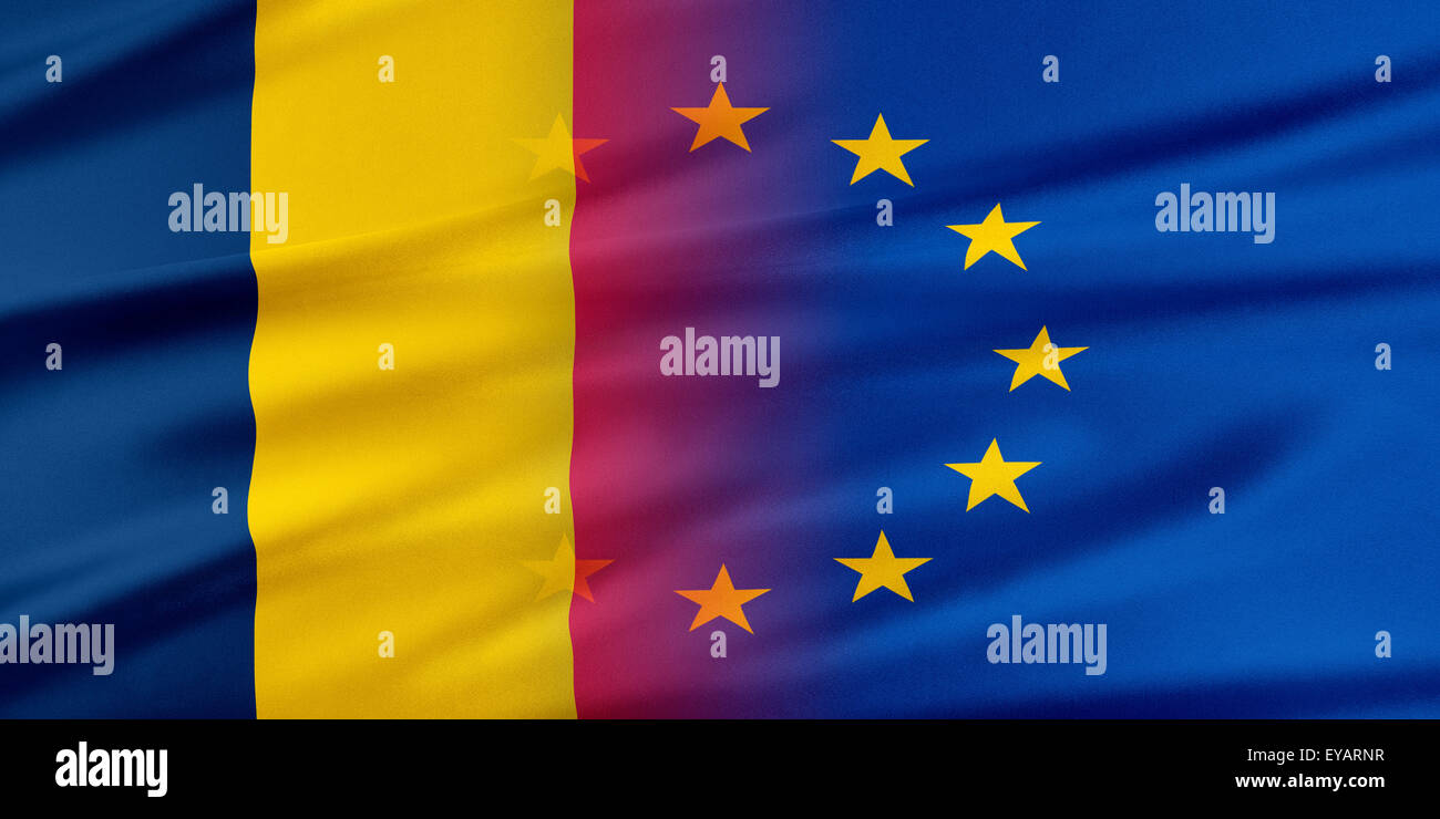European Union and Chad. - Stock Image