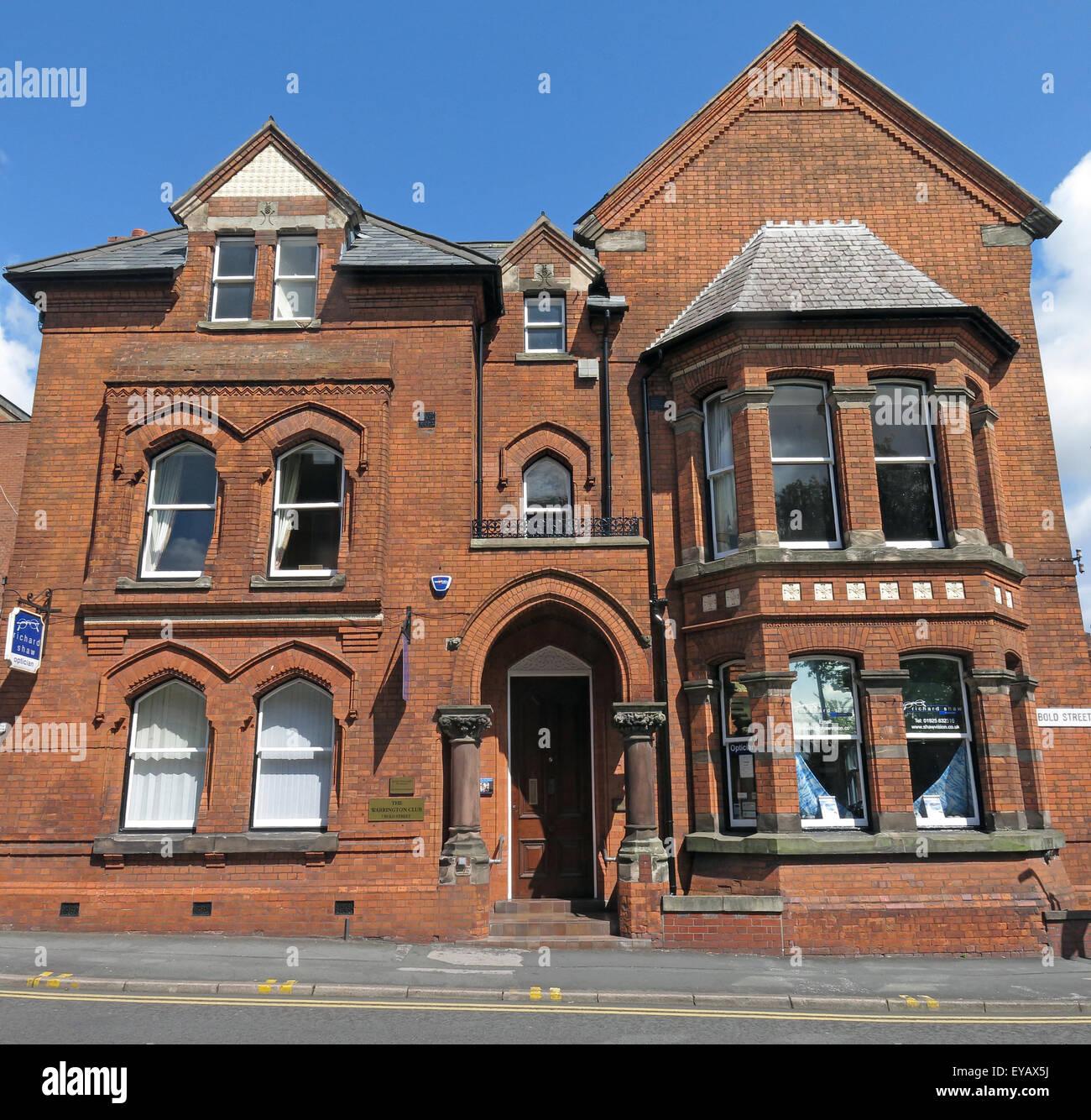 The Warrington Club,Bold St, Cheshire,England,UK Stock Photo