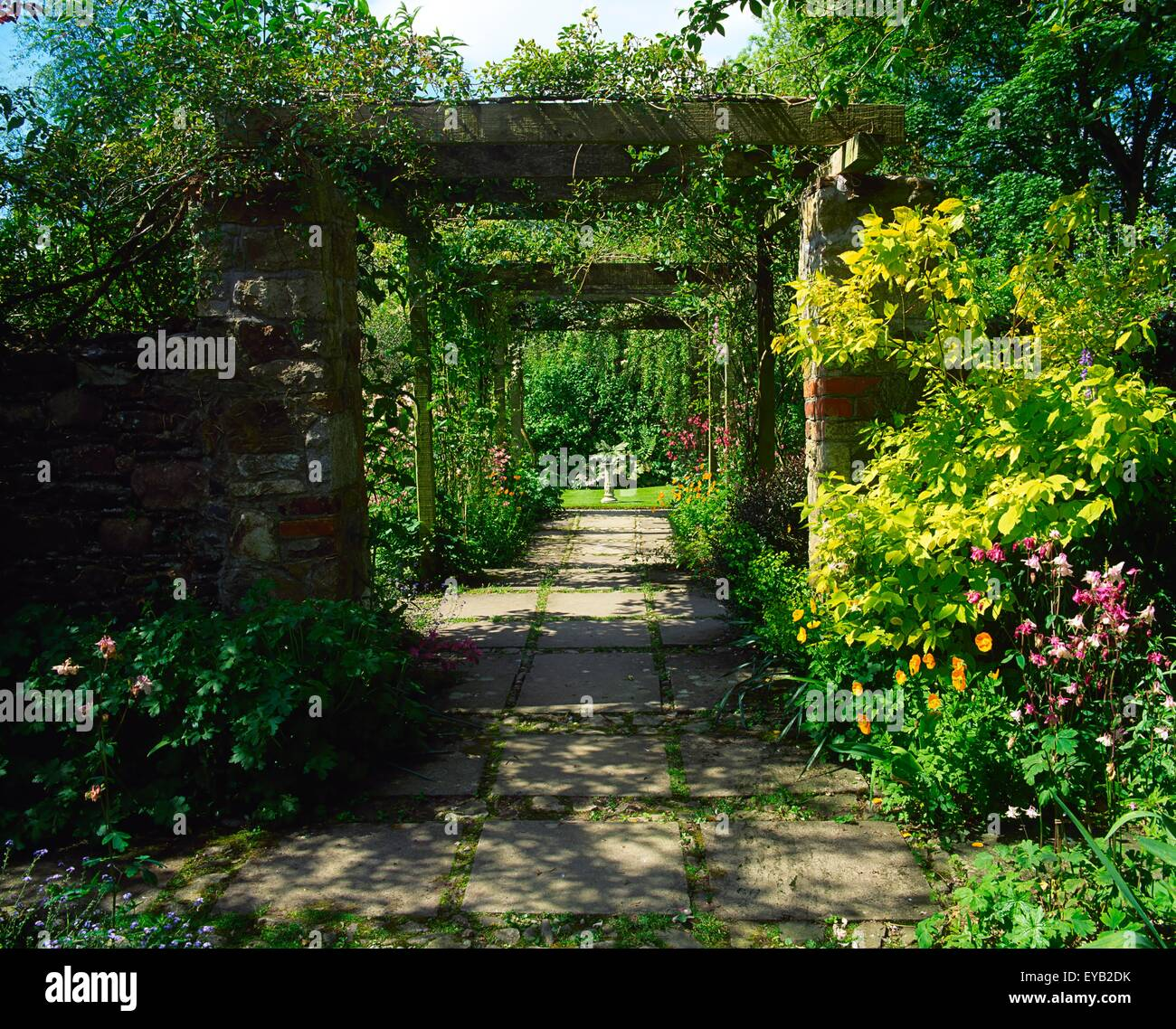 Pergola Design Ireland: Ram House Gardens, Co Wexford, Ireland; Pergola With