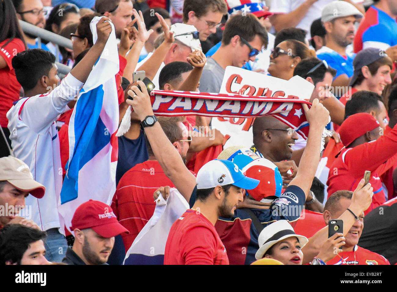 Panama defeats the United States on penalty kicks in the third place game of the CONCACAF Gold Cup.  - Stock Image