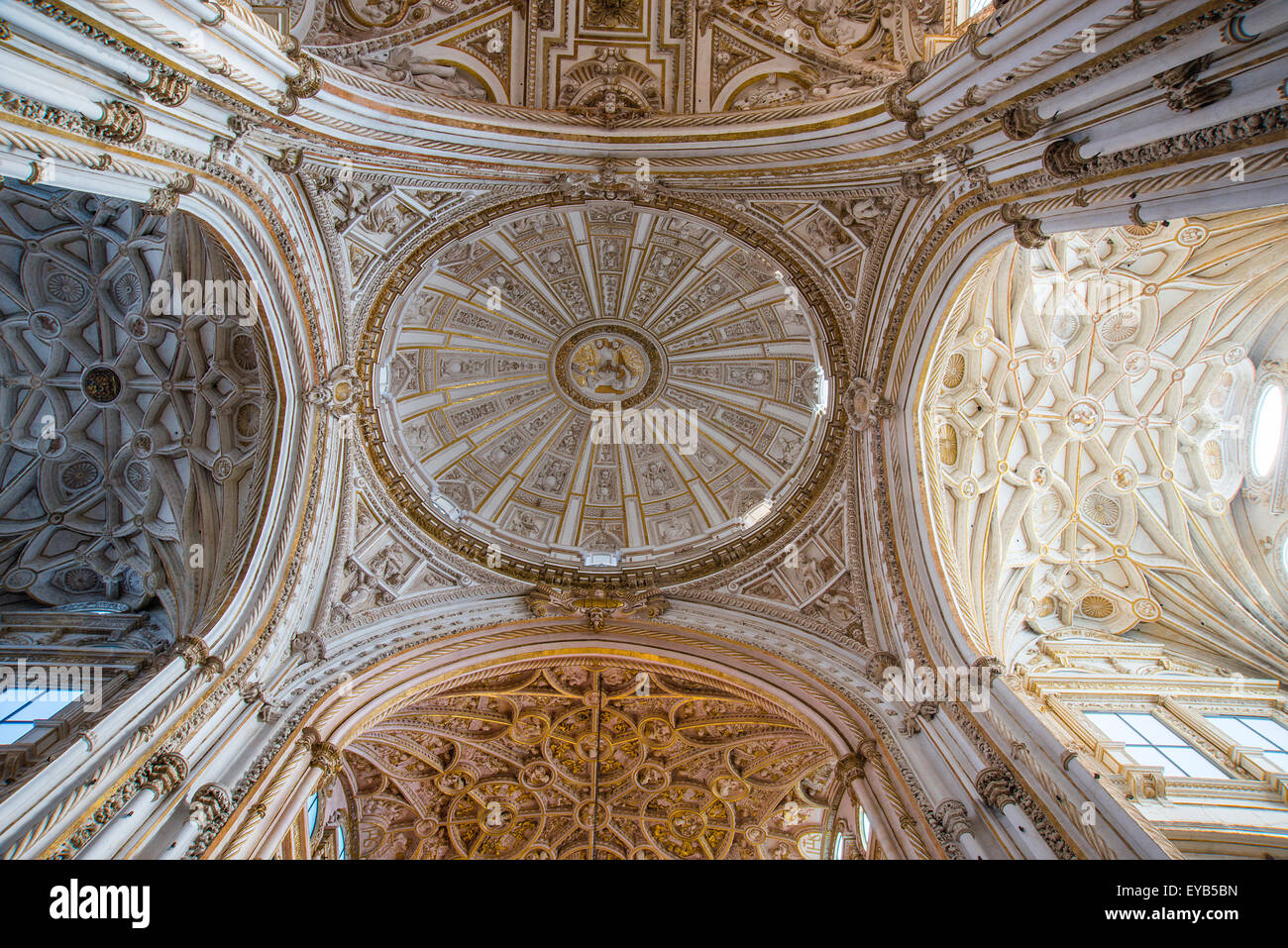 Cupola of the Cathedral, indoor view. Cordoba, Spain. - Stock Image