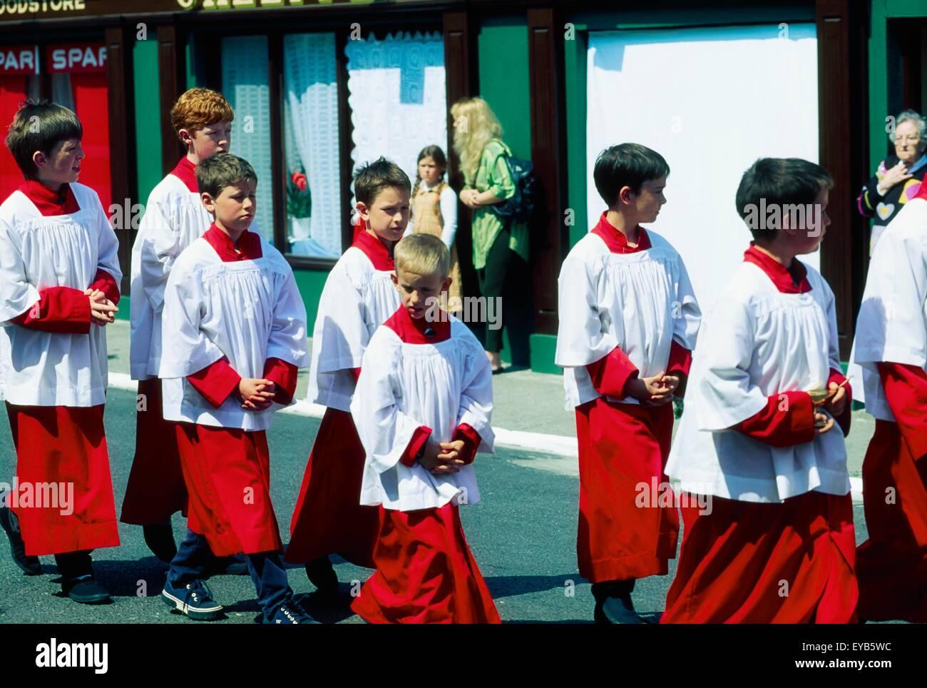 Ballydehob, Co Cork, Ireland; Corpus Christi Procession - Stock Image
